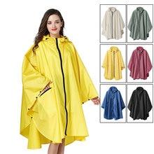 MEHONESTLY adult waterproof fashion lightweight zipper women rain poncho coat hooded men bicycle cape in Six plain colors