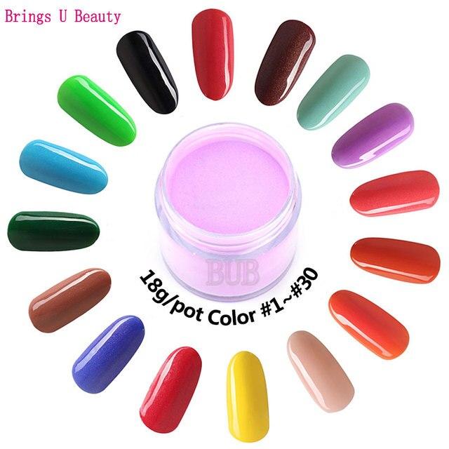 18g/Box Dipping Powder Without Lamp Cure Nails Dip Powder Gel Nail ...