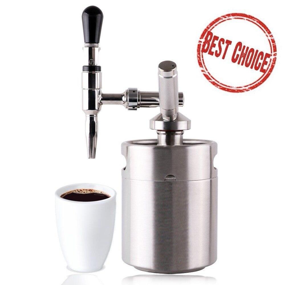 DIY Nitro для напитков кофеварка с 3.6L мини бочонок из нержавеющей стали домашняя система для кофе
