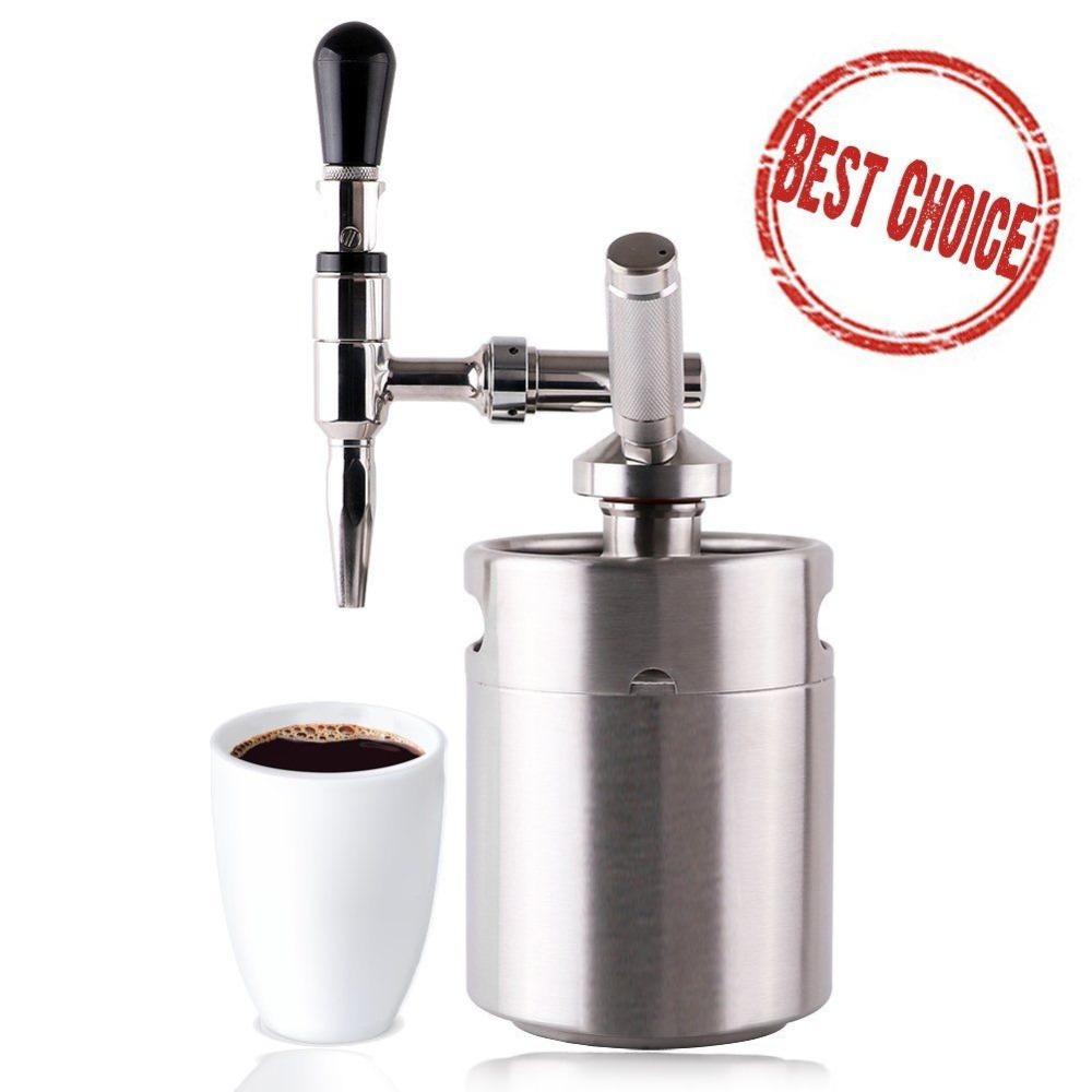 DIY Nitro Cold Brew Coffee Maker with 3.6L Mini Stainless Steel Keg Home brew coffee System KitDIY Nitro Cold Brew Coffee Maker with 3.6L Mini Stainless Steel Keg Home brew coffee System Kit