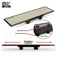 Universal Adjustable Broadway 270mm Inside Wide Angle Flat Auto Interior Mirrors Clip Car Vehicle Truck Clear
