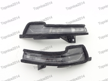 1Pair Wing Mirror Turn Signal Indicator Lamp Light Lens For Ford Mustang 2015
