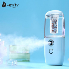 Nagative Lon Sprayer Facial Nano Mist Spray Moisturizing Air Humidifier Car Aroma Diffuser Mini Facial Steamer With Spray Bottle