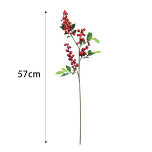 Image 5 - Artificial Flowers For Decoration Red Bird Berry Spray Stem Of Faux Berries Autumn/Christmas Fake Flowers Fall Decoration Home