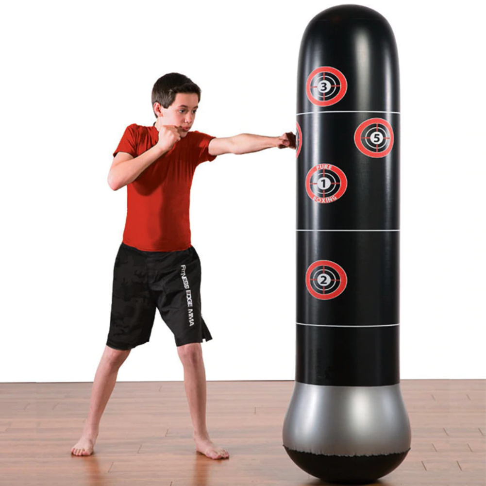 Inflatable Boxing Taekwondo Punching Bag Free Stand Tumbler Muay Training Pressure Relief Bounce Sandbag With Air Pump boxeo 7