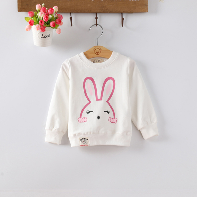 IENENS Baby Infant Pullovers Sweatshirts Kids Children Cartoon Rabbit T-shirt Hoodied Tops Todlers Girls Clothes Clothing 0-3Y
