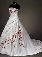 Vestido De Noiva Ball Gown Wedding Dresses 2014 White Embroidery Strapless Sleeveless Lace Up Floor Length