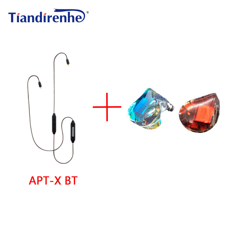 Tiandirenhe Original MMCX 5BA Balanced Armature Drive Unit SE846 Earphone Headset APT-X Bluetooth Cable for Shure SE215 SE535