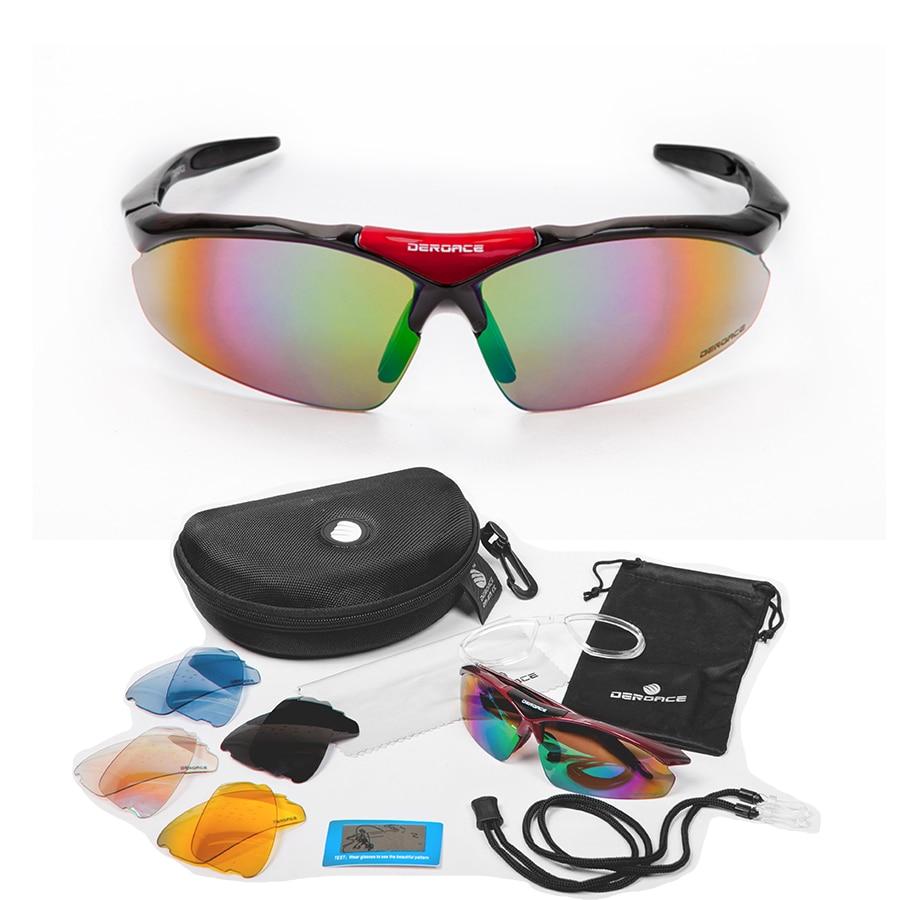 Polarizované cyklistické brýle Sluneční brýle Pánské brýle Cyklistické sportovní brýle Gafas Oculos Occhiali Ciclismo Fietsbril 5 Lens E-0091