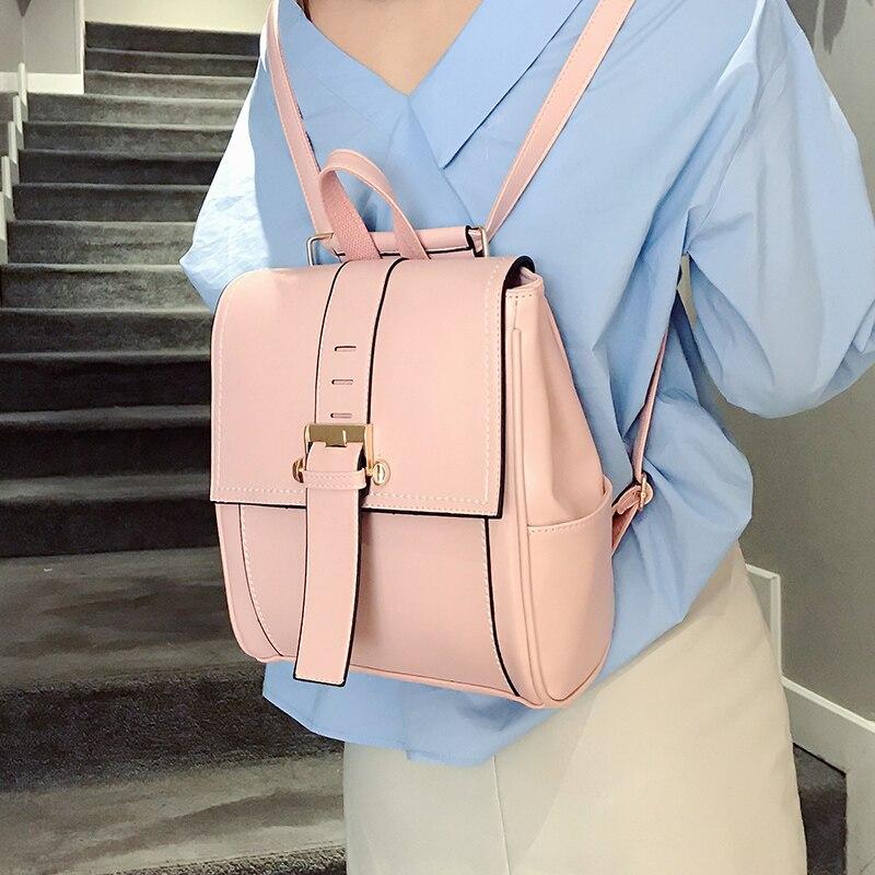 New Fashion Pu Women Backpack Youth Vintage Leather Backpacks For Teenage Girls New Female School Bag Bagpack Mochila Sac A Dos