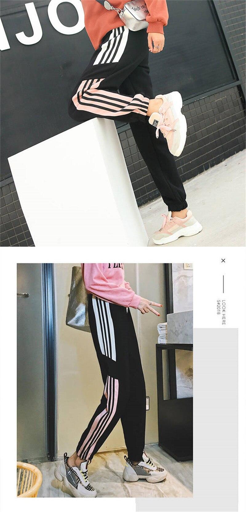 casual, 2019, calças de ginásio harajuku calças engraçadas meninas