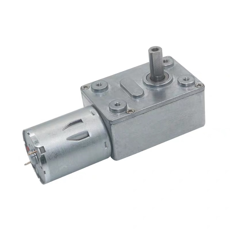 DC 12V 2 RPM Worm Gear Motor Reversible High Torque Turbo Geared Motor with Metal Reducer Gearbox for DIY Project