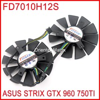2pcs Lot Firstd FD7010H12S 12V 0 35A 85mm 39x39x39mm For ASUS STRIX GTX960 GTX750TI Graphics Card