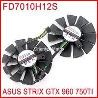 2pcs Lot Firstd FD7010H12S 12V 0 35A 85mm 39x39x39mm For ASUS STRIX GTX960 GTX750TI Graphics Card