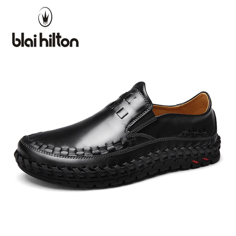 blaibilton Summer Handmade Genuine Leather Loafers Men Casual Shoes Boat Slip On Luxury Fashion Male Moccasins Driving Footwear farvarwo genuine leather alligator crocodile shoes luxury men brand new fashion driving shoes men s casual flats slip on loafers