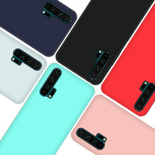 Silicone Case Plain Candy Phone For Huawei Honor20 20pro Cute Color Soft honor20 Simple Fashion Cover Shell