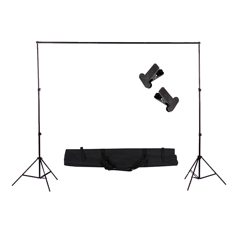 Photography Studio Heavy Duty 2mx2m Photo Studio Backdrop Background Support Stand Kit lightdow 2x3m 6 6ftx9 8ft adjustable backdrop stand crossbar kit set photography background support system for muslins backdrops