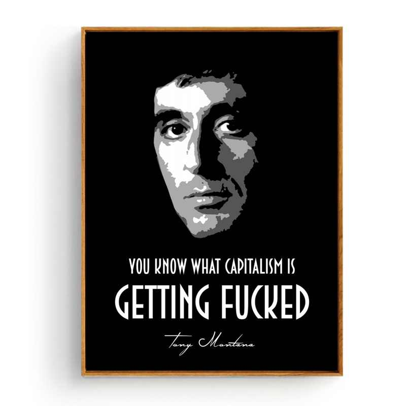 The Godfather Scarface movie Tony Montana Canvas Painting Wall Picture for  Living Room 50x75cm