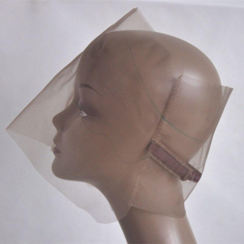 Коричневый 360 парик Кепки база для создания парик Швейцарский парик Кепки база 360 застежка Кепки с регулируемым ремешком ...