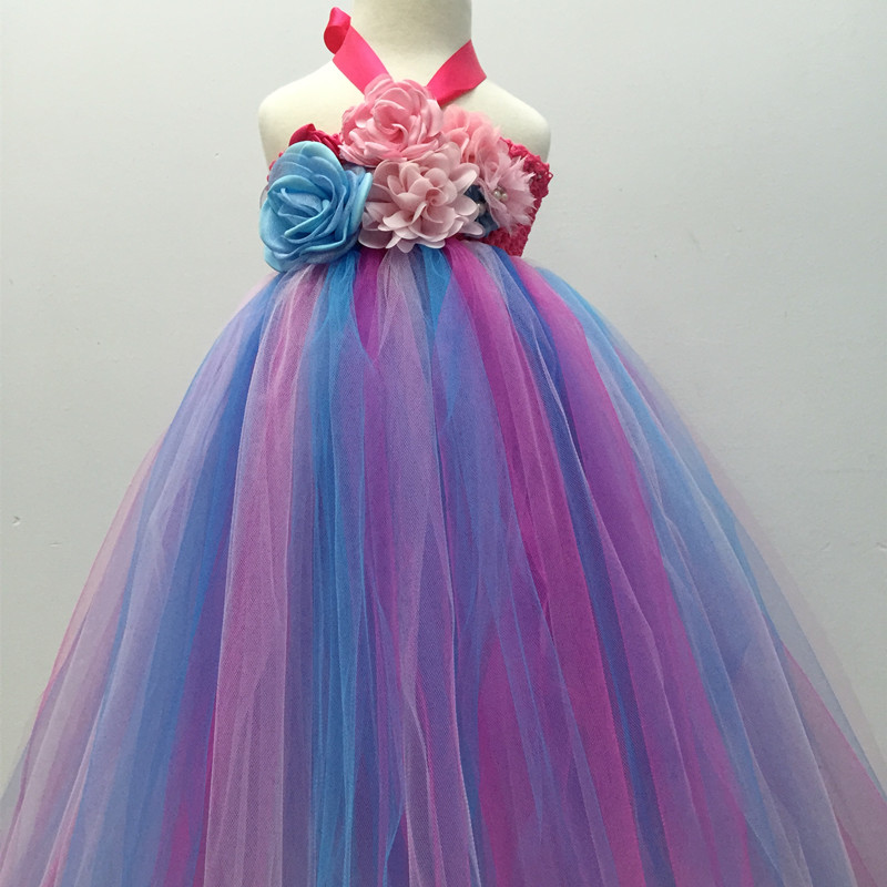 Infant Baby Girls Fluffy Tutu Dress With Headband Sleeveless ...