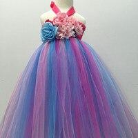 Niño bebés Niñas flor princesa Tutu vestido de boda bautizo fiesta formal Vestidos 1 año cumpleaños vestido