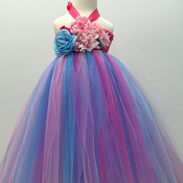 61632c396c Toddler Infant Baby Girls Flower Princess Tutu Dress Wedding Christening  Easter Gown Formal Party Dresses 1 Year Birthday Dress-in Dresses from  Mother ...