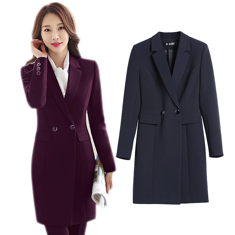 18614a7b232 Dos piezas trajes señoras falda Formal traje de oficina uniforme estilo mujer  negocios pantalones traje trabajo Claret mujeres Blazer Set Plus tamaño