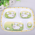 BBWY016 Children's tableware, Dining plate, the food sub-grid, plate melamine plate, cartoon children's baby ruled tray