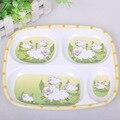 BBWY016 vajilla de Los Niños, placa de comedor, sub-red de la comida, placa de melamina, los niños de dibujos animados bebé gobernó bandeja