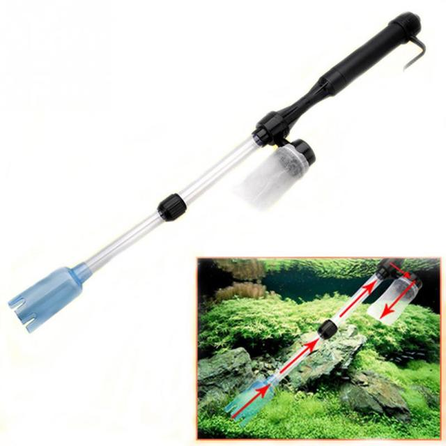 Adjustable Aquarium Battery Syphon Auto Fish Tank Vacuum Gravel Water Filter Cleaning Tools Aquarium Cleaner