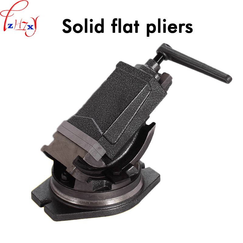 Inclinable Angle solid flat tongs 4 inch 360-degree rotary precision taper vise precision high quality flat tongsInclinable Angle solid flat tongs 4 inch 360-degree rotary precision taper vise precision high quality flat tongs