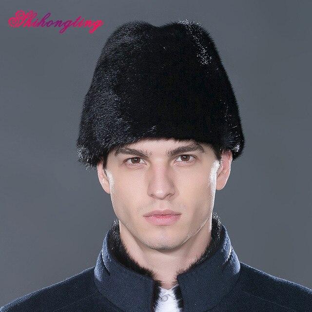 69c403df Mens Hedging Cap Snow Caps Natural Fur Army Hat Shape Skullies Beanies  Winter Men Whole Mink
