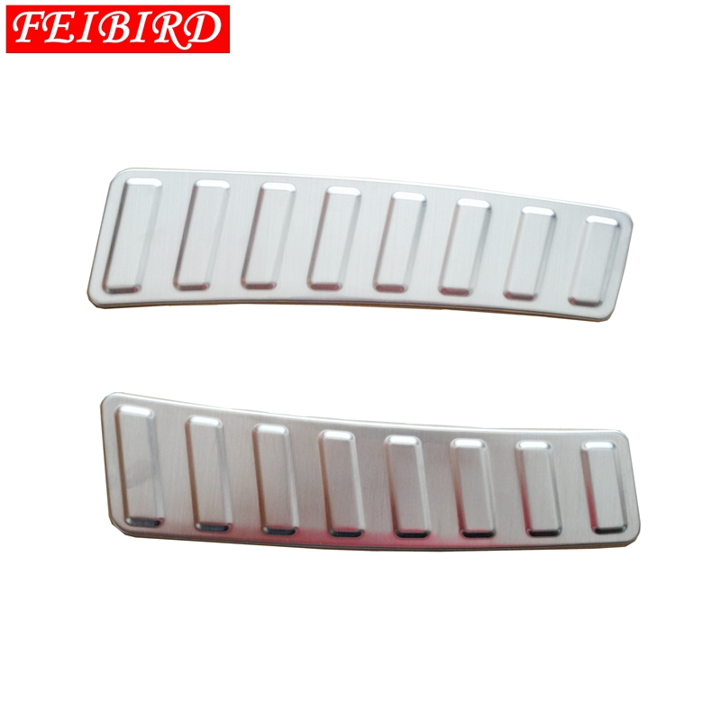 Image 4 - 304 Stainless Steel Rear Inner Door Bumper Protector Door Sill Plate Trim For Land Rover Discovery Sport 2015 2016 2017 2018-in Interior Mouldings from Automobiles & Motorcycles