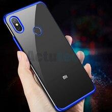 Plating Luxury TPU Soft Clear Cover Redmi 6 6A 6Pro 5 Note 5 6 pro 4X Case For Xiaomi Mi8 max3 mix2S Mi 6X 5X Crystal Phone Case
