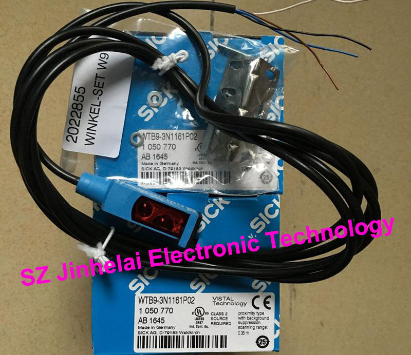 100% New and original  WTB9-3N1161P02 ( is WTB9-3N1161+stent)  SICK  Photoelectric switch [zob] 100% new original omron omron proximity switch e2e x10d1 n 2m