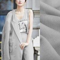 150CM Wide 750G/M Weight Camel Color Gray Tassels Lambsdown Wool Fabric for Autumn Winter Scarf Jacket Dress Outwear DE866