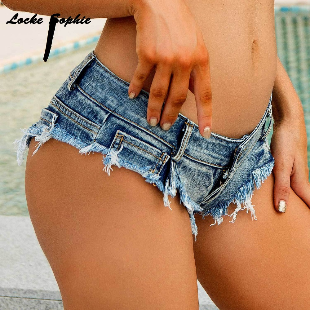 1pcs Low waist Sexy Women 39 s super short jeans denim shorts 2019 Summer Denim tassel hole shorts Ladies Skinny super short jeans in Shorts from Women 39 s Clothing