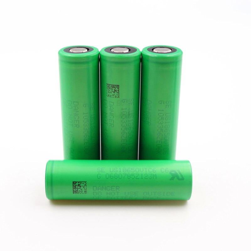 PINTTENEN VTC6 3.7V 3000mAh rechargeable Li-ion battery 18650 for Sony US18650VTC6 30A Electronic cigarette toys tools flashligh