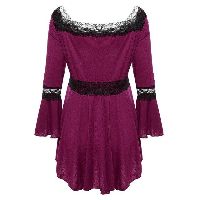 Retro Vintage Ladies Patchwork Lace Dress 2018 Summer Plus Size Ruffle Dresses For Women 4xl 5xl Gothic Party Dress Robes Femme 3