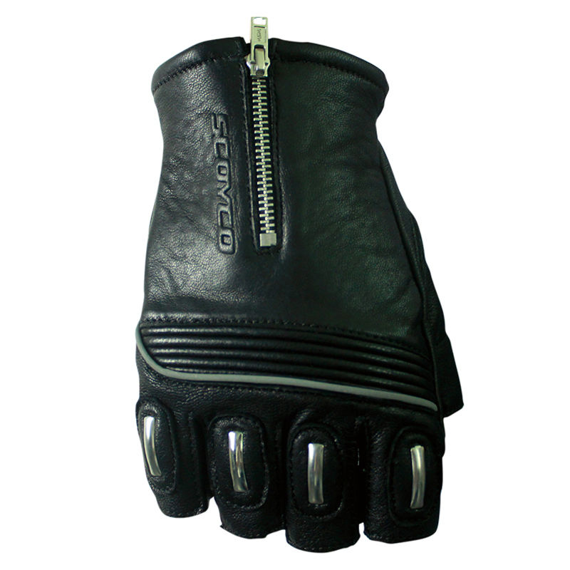 Protective Motorcycle Gloves Scoyco MC25 Sheepskin Genuine Leather Motos Luvas Guantes Motocicleta Half Finger Fingerless Race