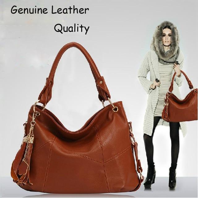 2016 Vintage Tassel women s Street leather handbags Fashion ladies  messenger Bag 6318f1f9c644e