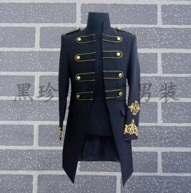 Nero bianco uomo abiti disegni masculino homme terno uomini giacca danza costumi  di scena per cantanti dbe8ff886e6