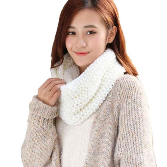 Vestido de moda coreana mujeres bufanda caliente mezcla de lana de ...