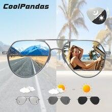 Top Quality Aluminum Photochromic Sunglasses Polarized Men Women Day Night Vision Oculos Yellow Driving Glasses gafas de sol