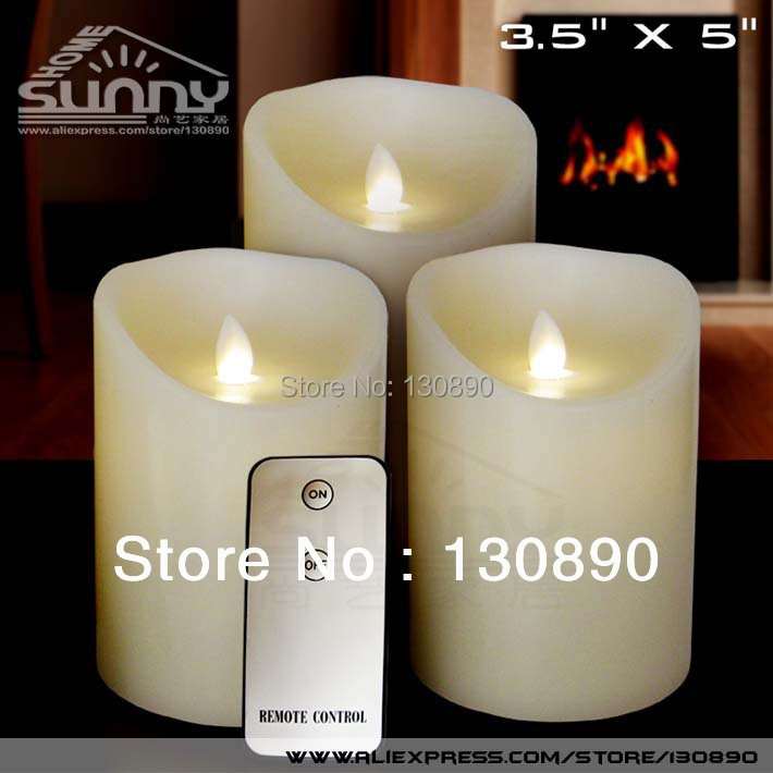 Led Kaarsen Met Timer.3pcs Lot D3 5 X5 Battery Operated Flameless Remote