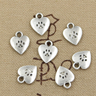 50pcs Charms Heart D...