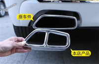 Lapetus Rear Bumper Tail Dual Exhaust End Pipe Muffler Tip Cover Trim Fit For BMW 5 Series Sedan G30 525 528 530 2017 2018 2019
