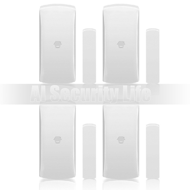 ФОТО Chuangkesafe 4pcs Chuango DWC102 Wireless Home Security Two-way Door/Window Sensor For Home Security Alarm System 315MHz