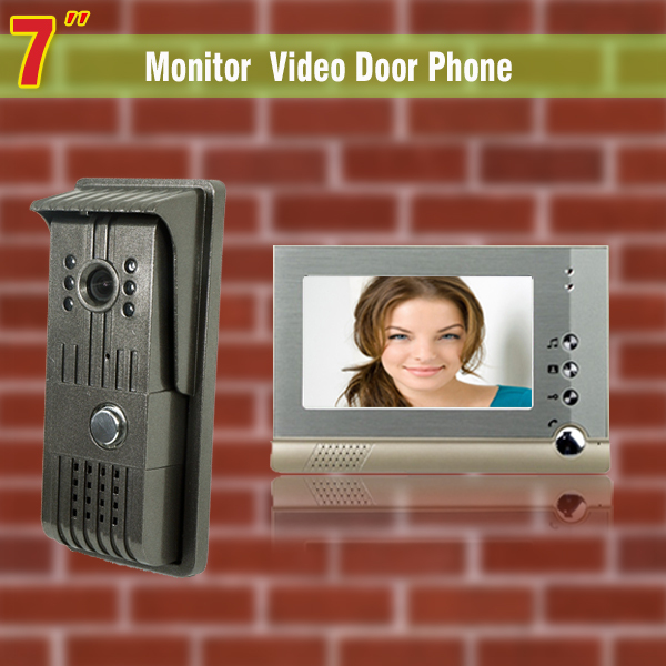 7 video door phone intercom system night vision intercom video door phone entry system with 1 Camera1 Monitor video intercom