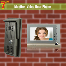 7″ video door phone intercom system night vision intercom video door phone entry system with 1 Camera1 Monitor video intercom